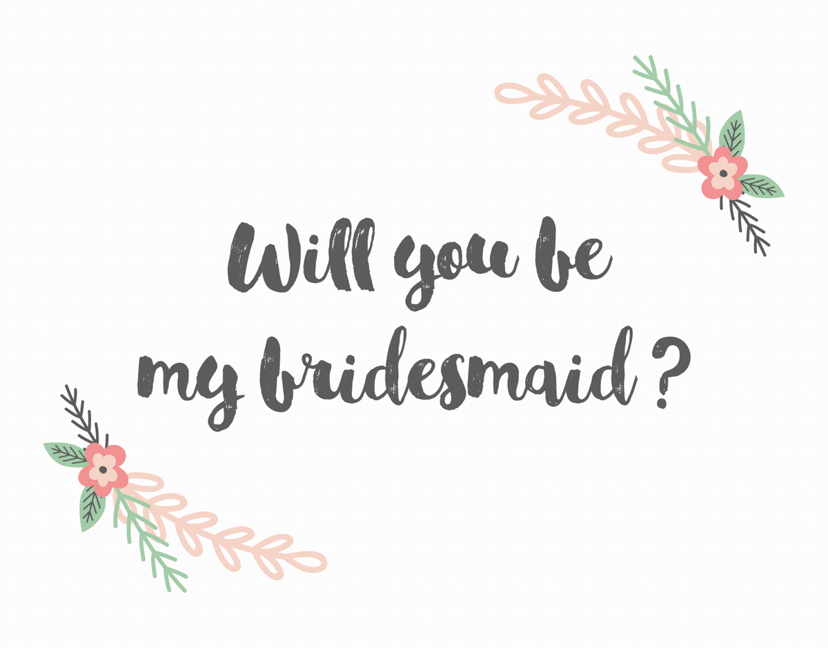 Blush Flower Will You be My Bridesmaid Card