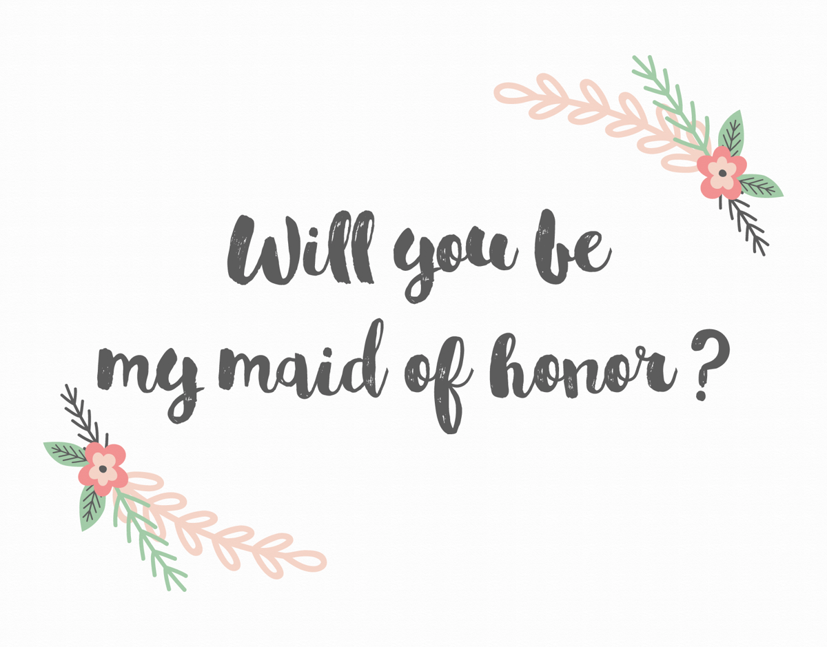 Blush Flower Will You be My Maid of Honor Card