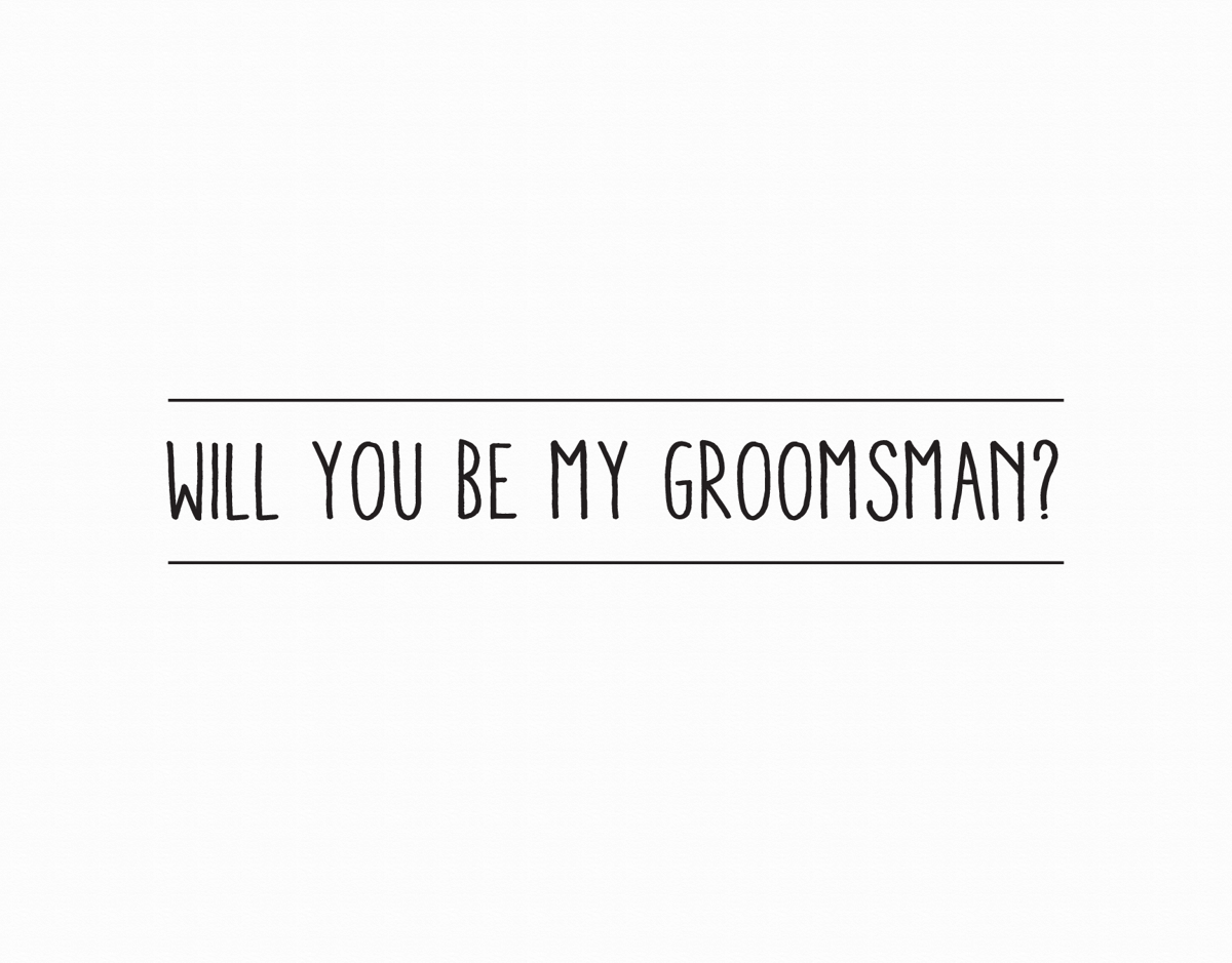 Simple Will You Be My Groomsman Card