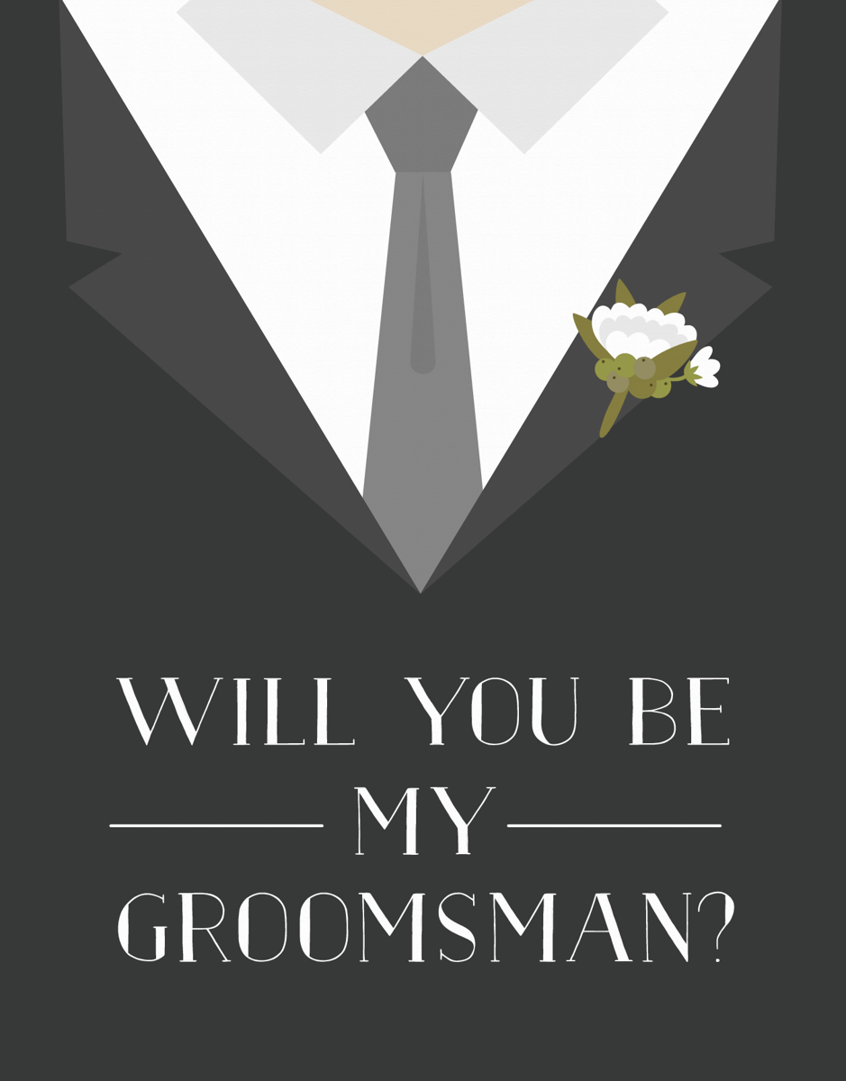 Tuxedo Will You Be My Groomsman Card
