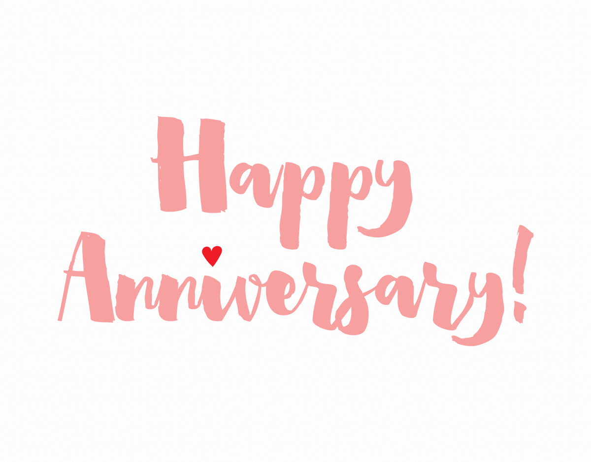 Brush Script Anniversary Card