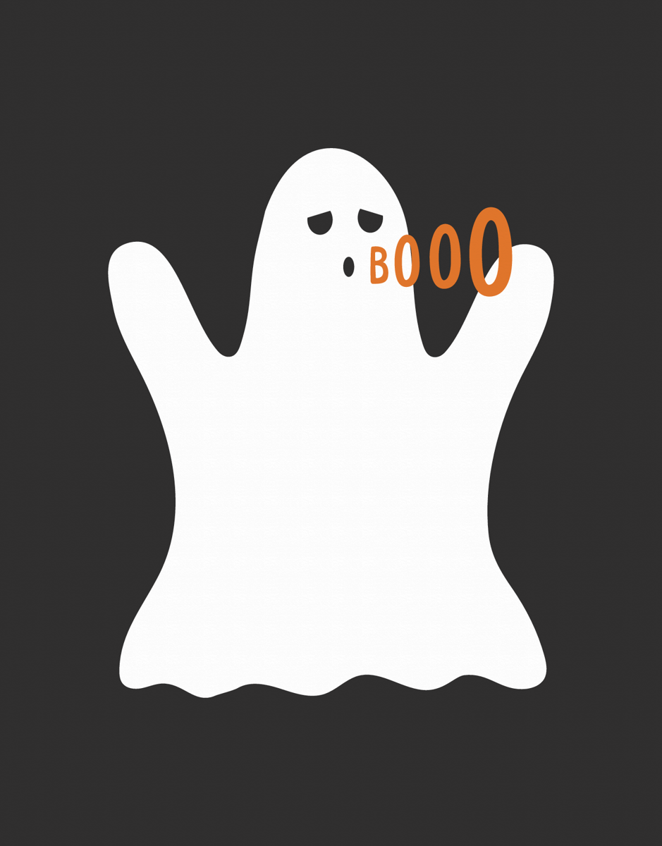 Spooky Ghost Halloween Card