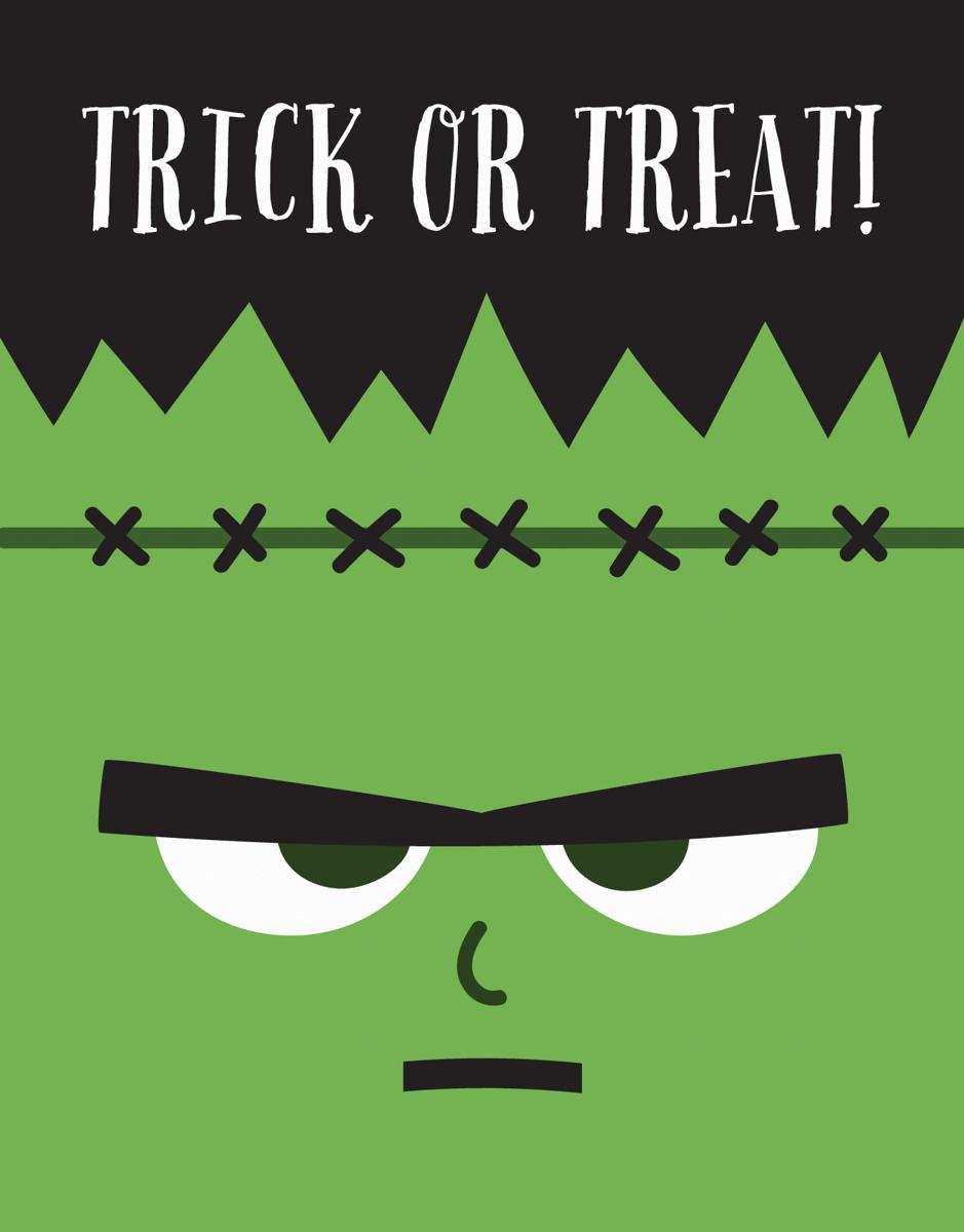 Frankenstein Halloween Card