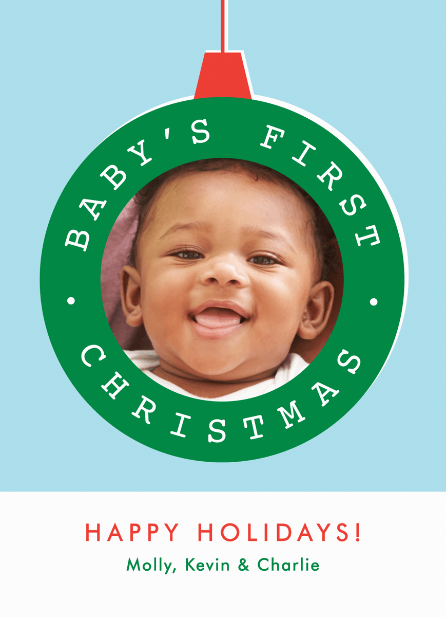 Ornament Baby's First Christmas Card