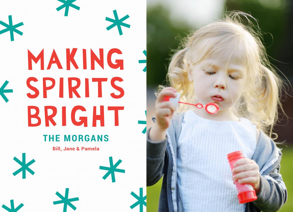 Bright Spirits Cut Paper Holiday Card