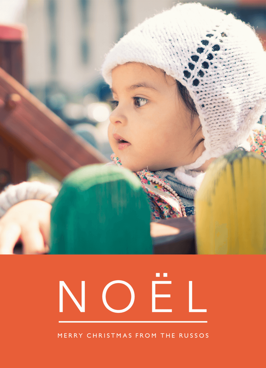 Red Noel Photo Christmas Card