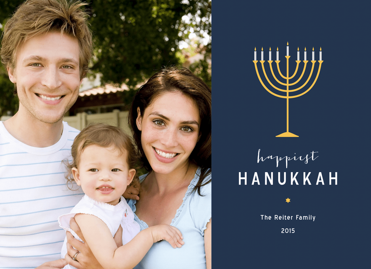 Happiest Hanukkah Menora
