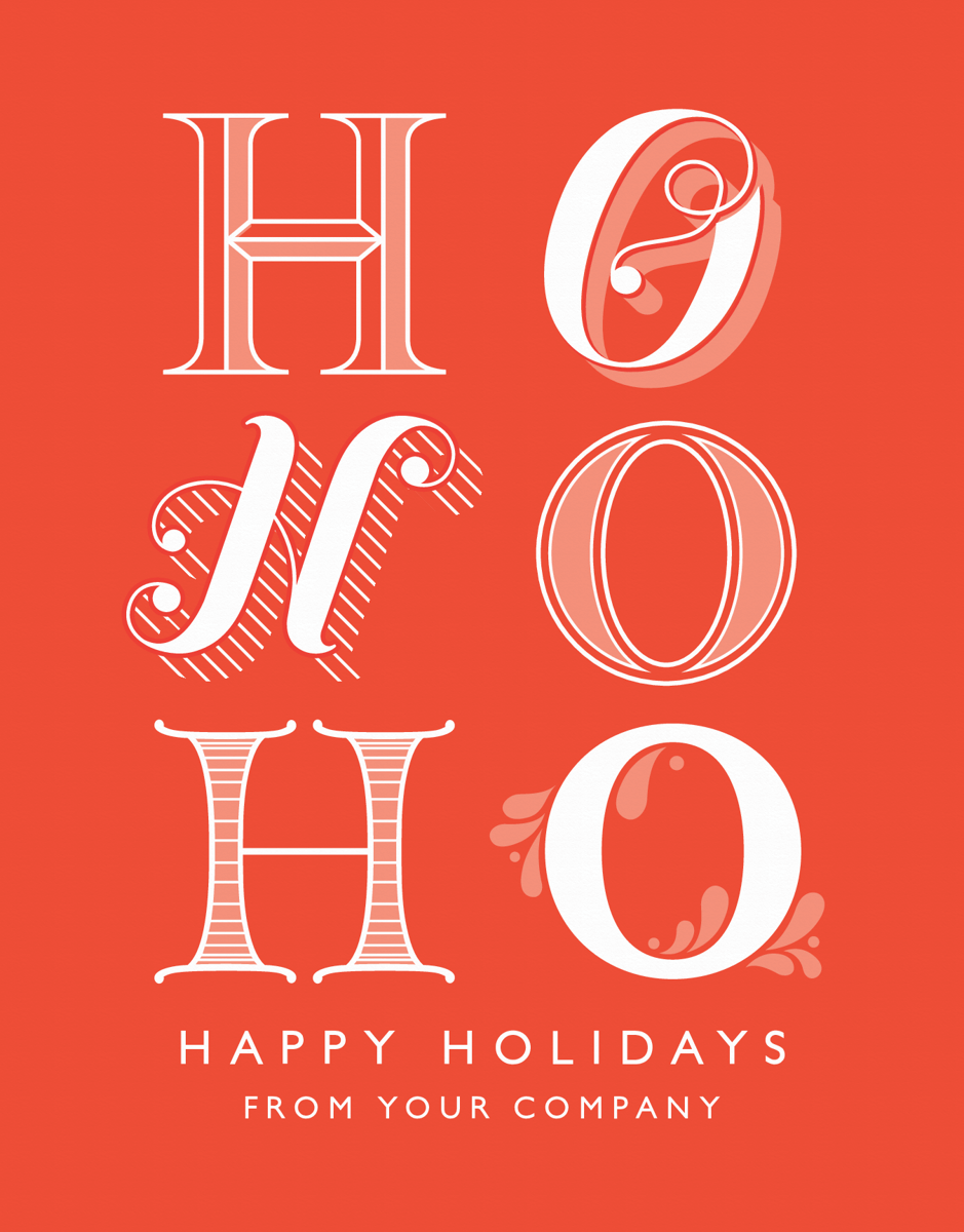 red business christmas card