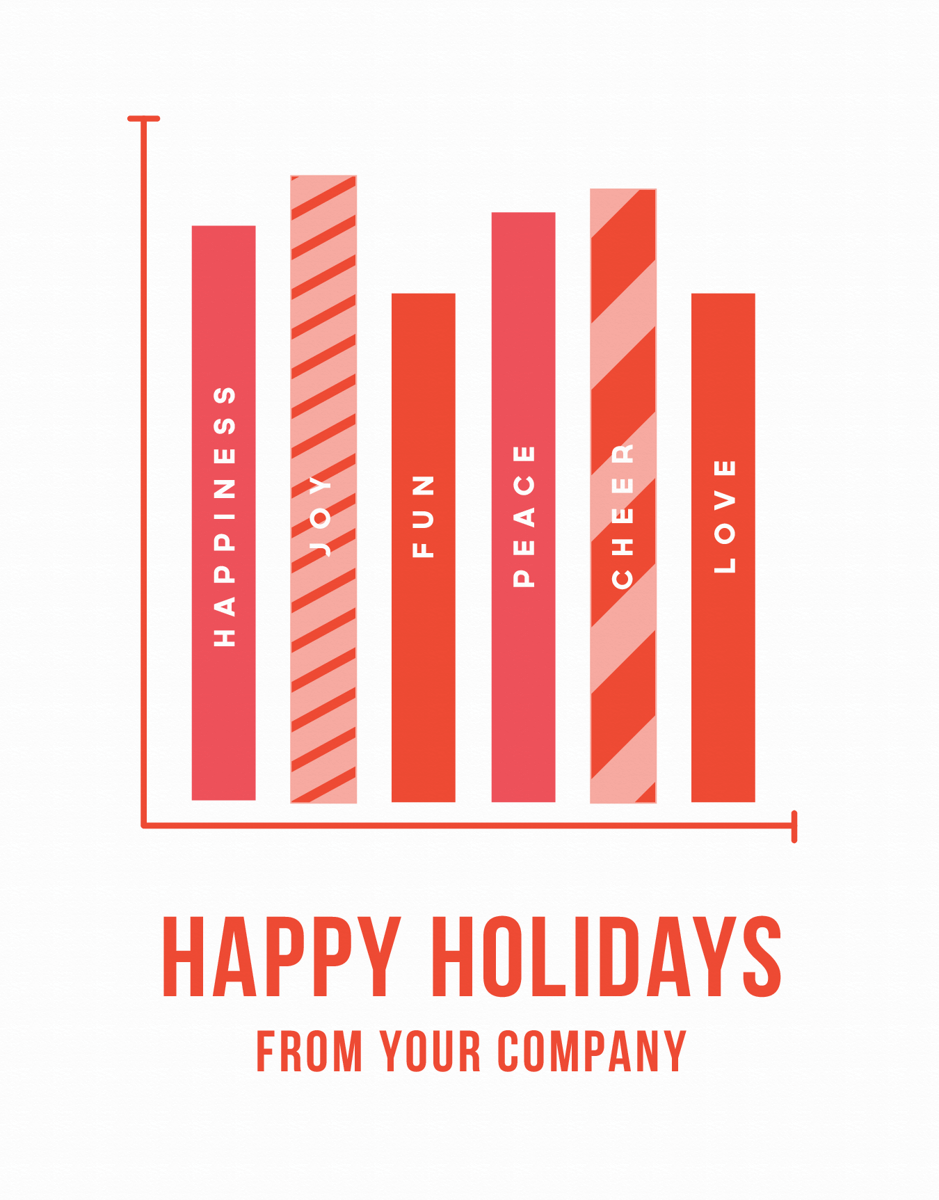 unique company holiday card with chart