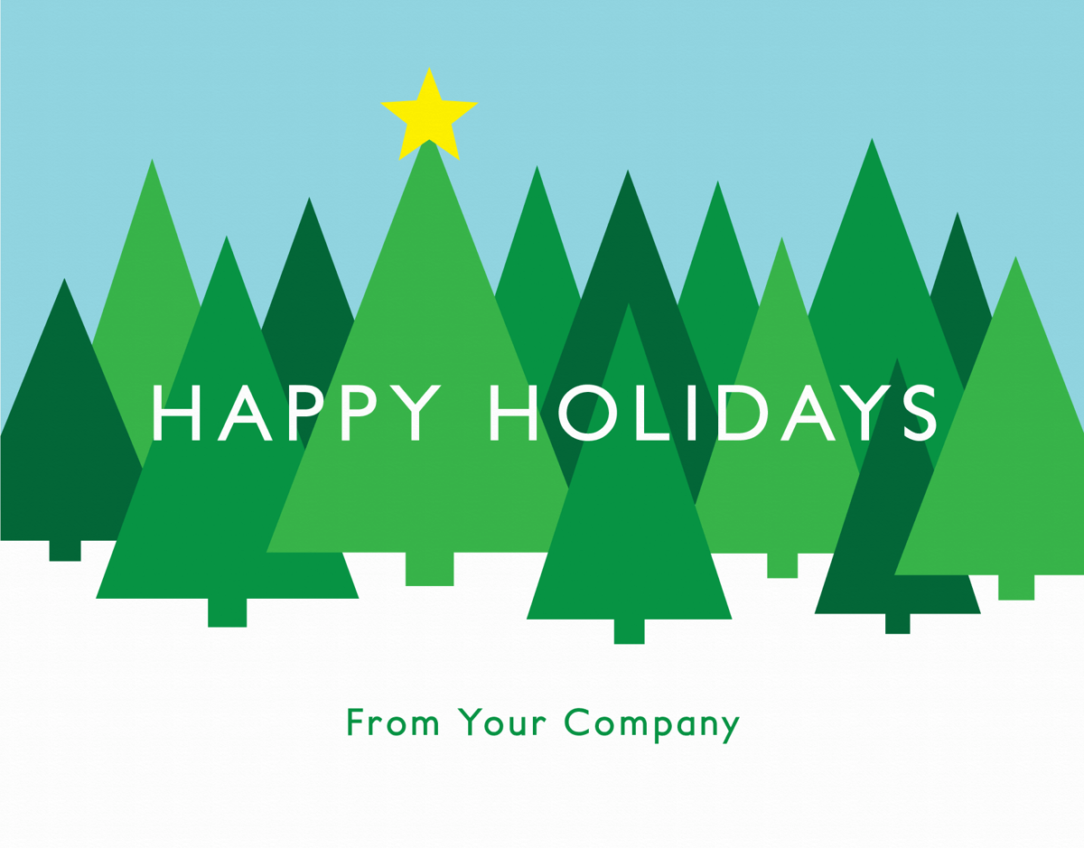 modern business holiday card