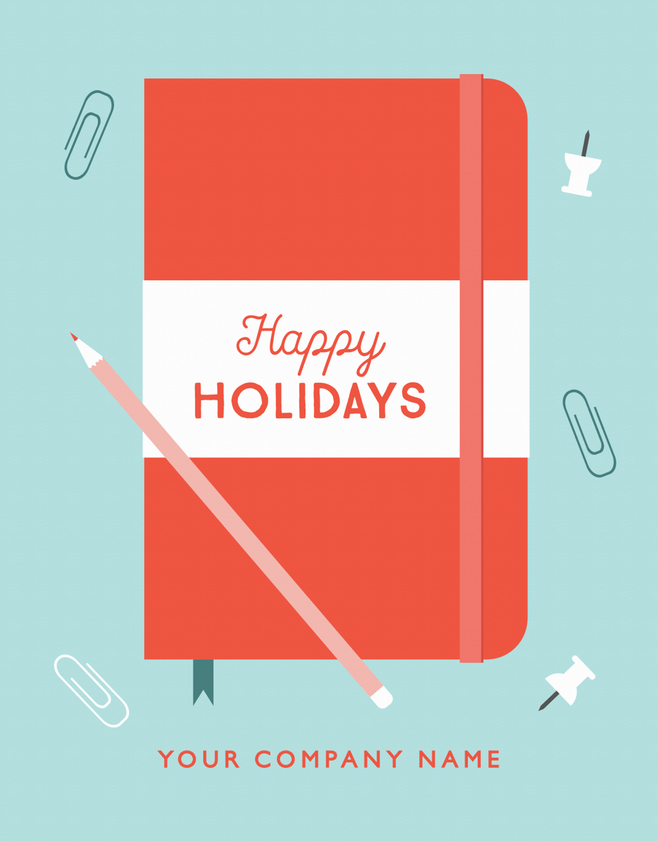 custom company holiday greeting card