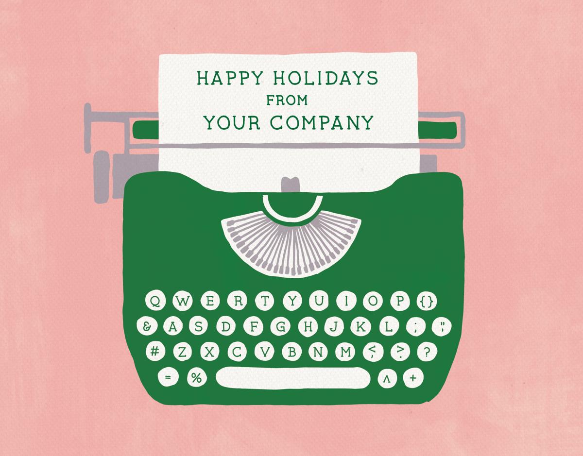 Holiday Typewriter