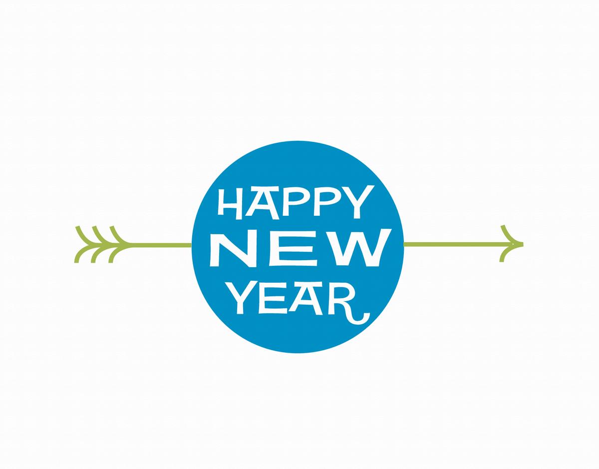 Circle Happy New Year Greeting Card