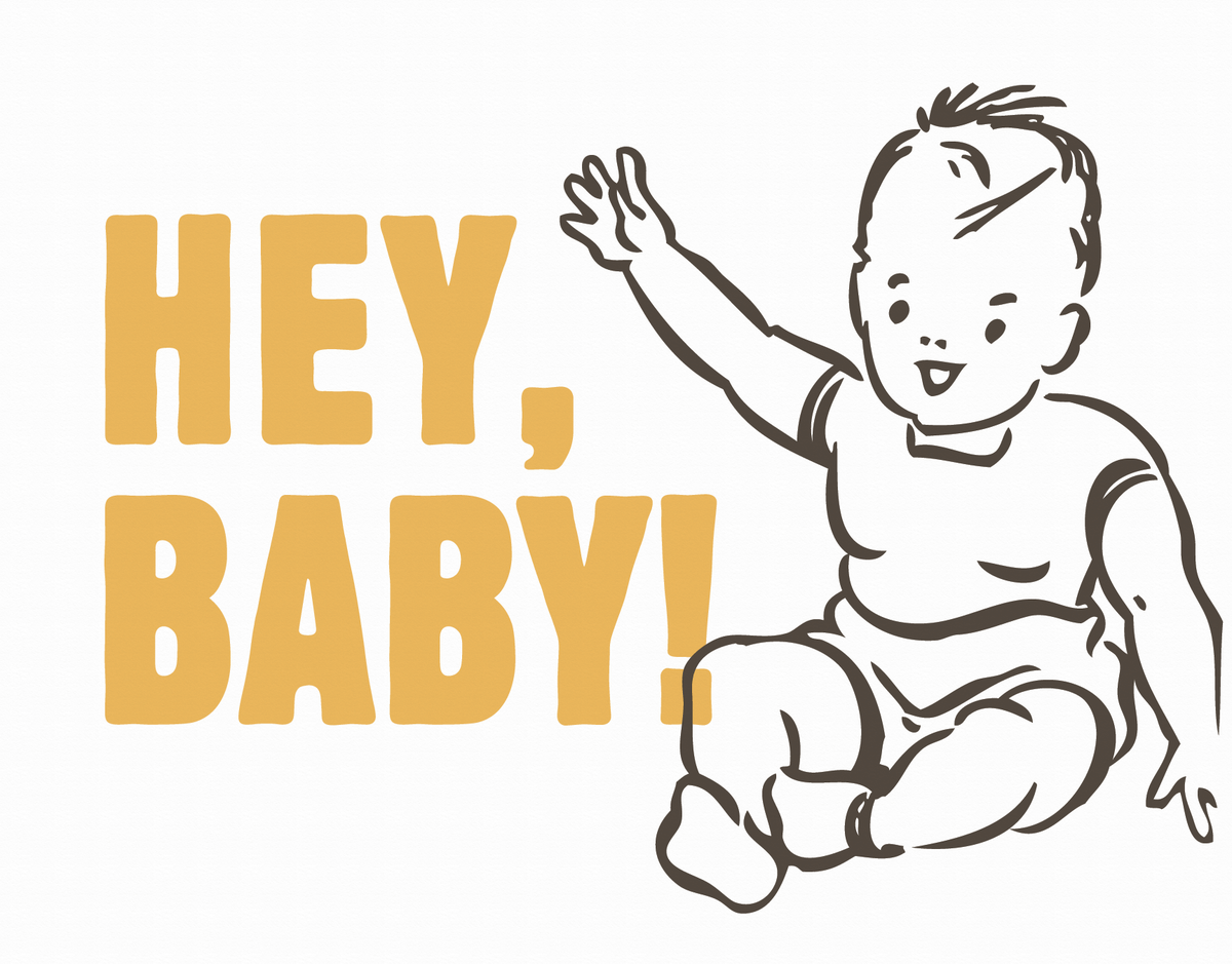 Typography Baby Card