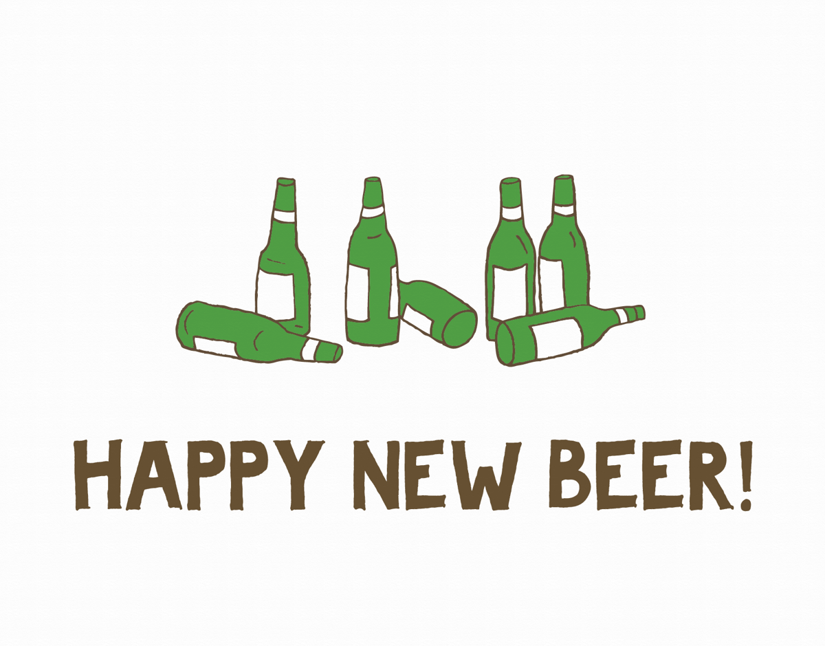Beer Bottle New Year's Card