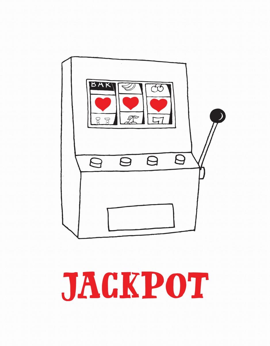Jackpot Hearts Valentine Card