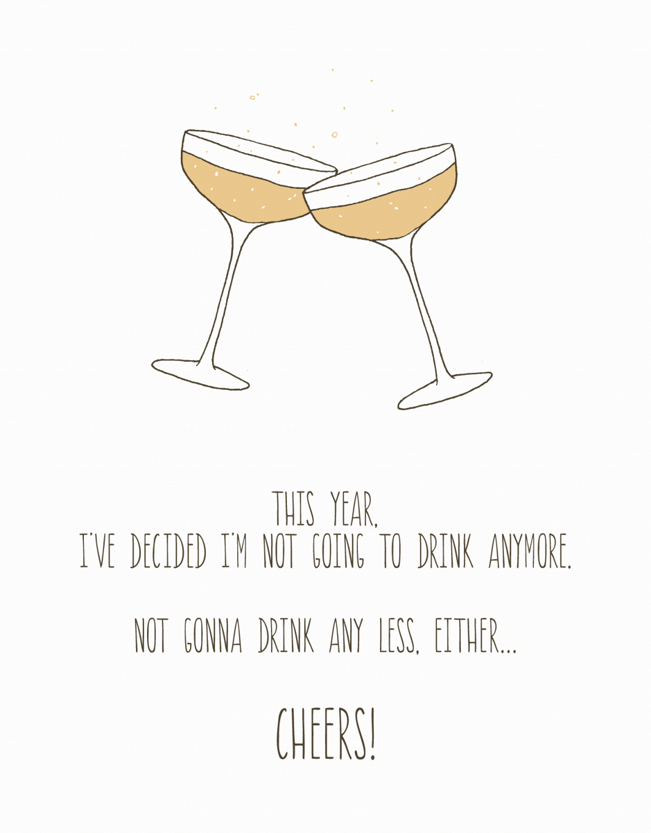 Drink Less New Years Card