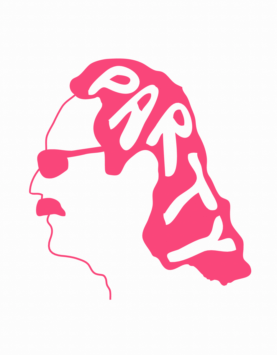 Pink Mullet Party Card