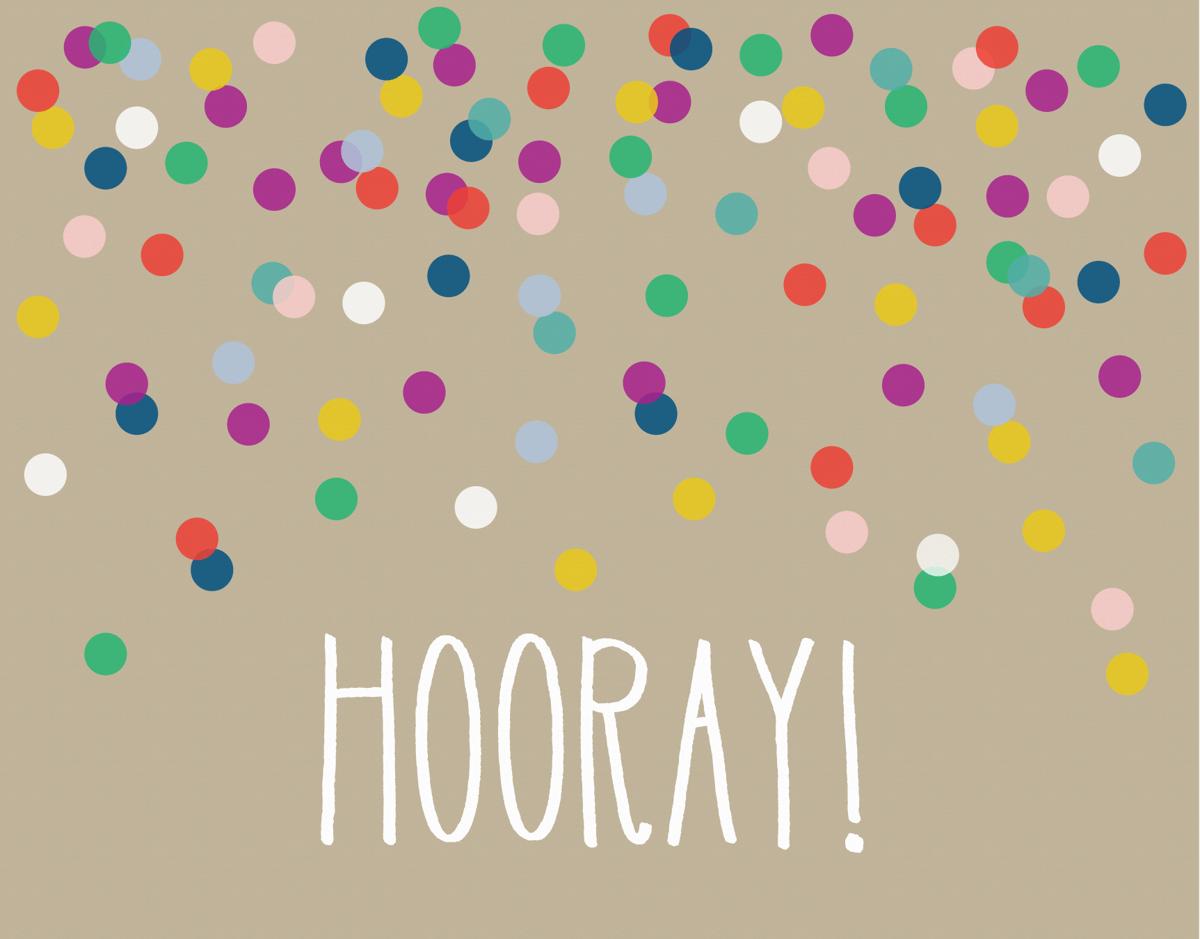 Confetti Hooray Congrats Card