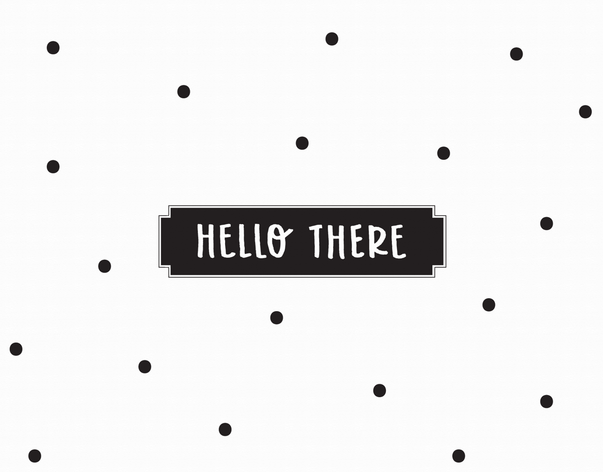Hello There Dots Greeting Card