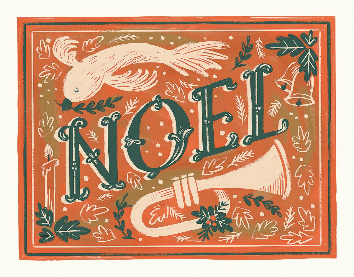 beautiful vintage hoel hand painted greeting card