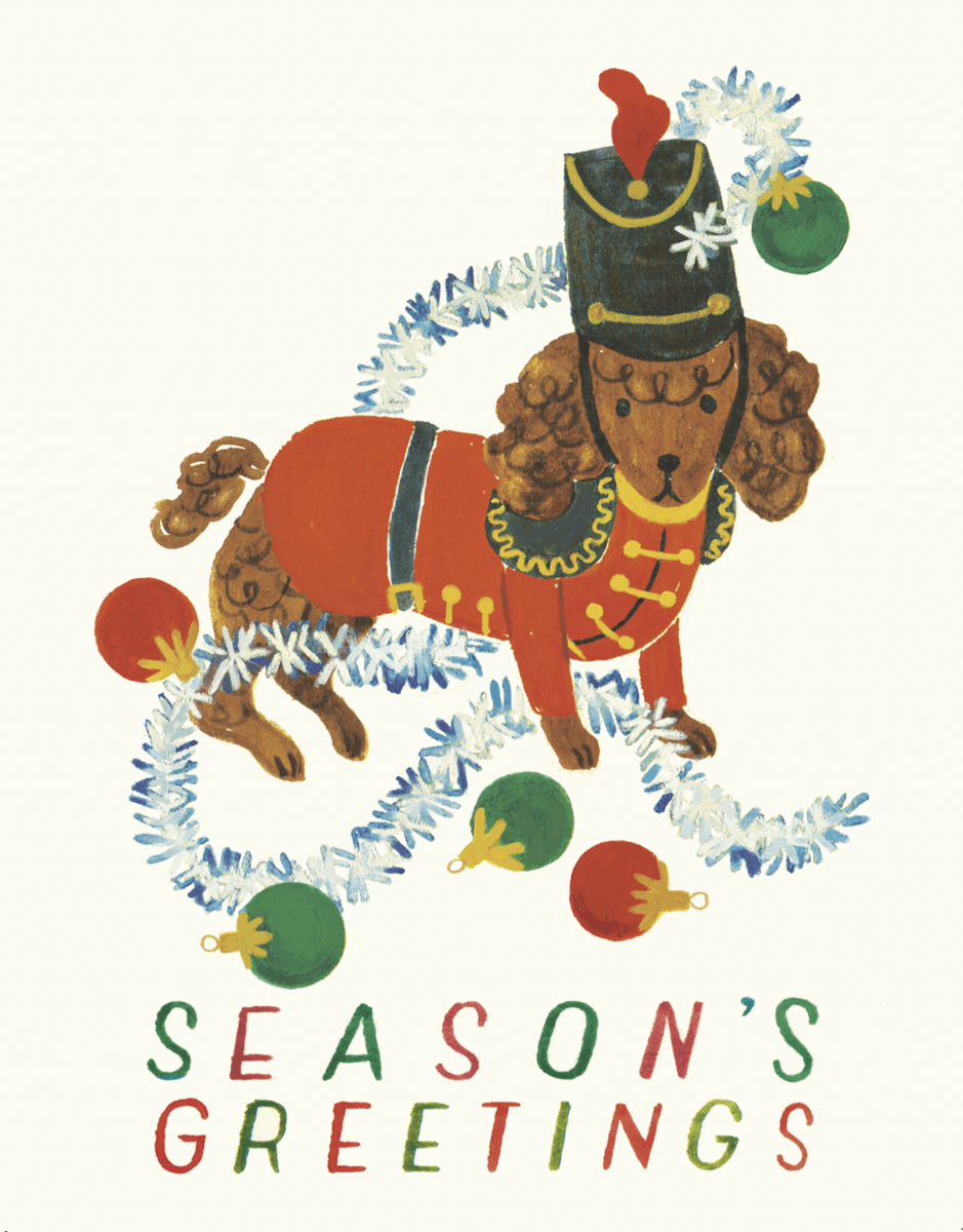 holiday-pet-poodle-greeting-card
