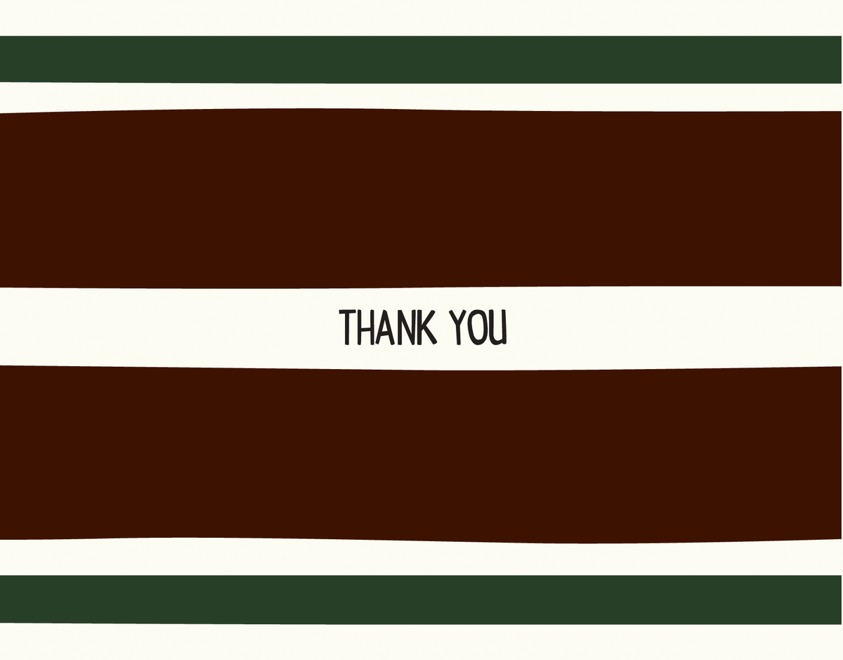 Masculine Classic Thank You Note