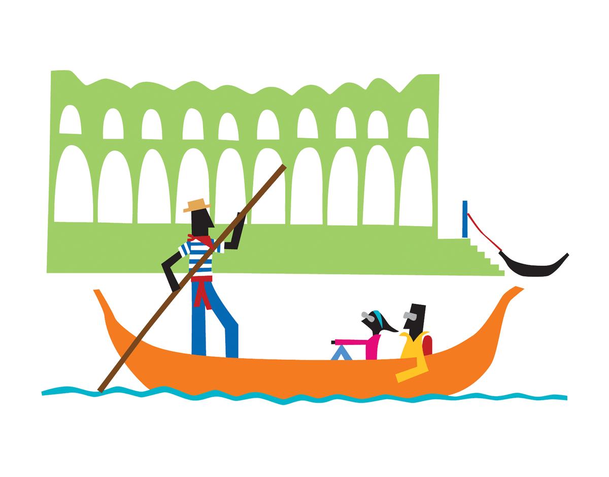 Tourist Gondola Greeting Card