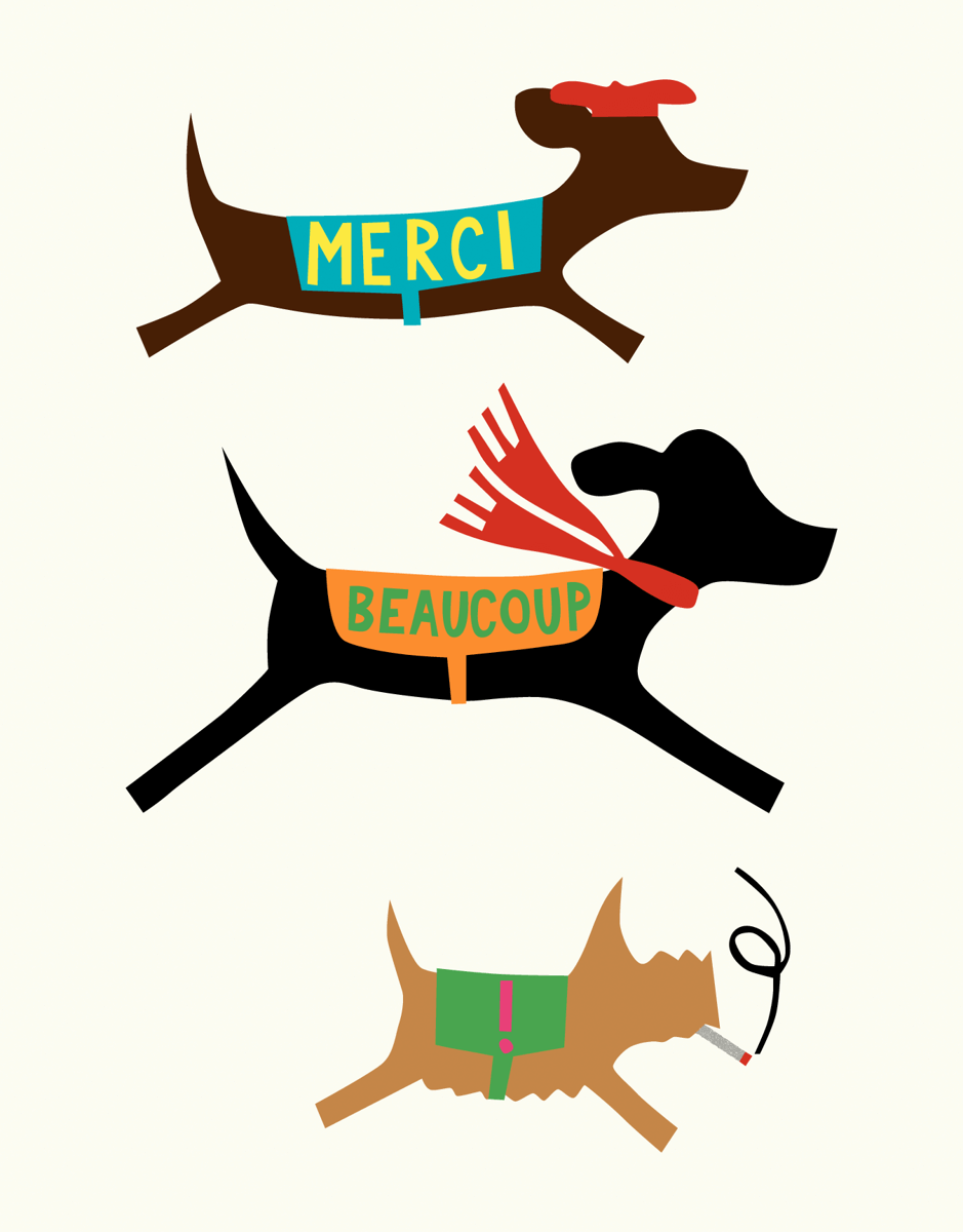 French Doggie Thank You