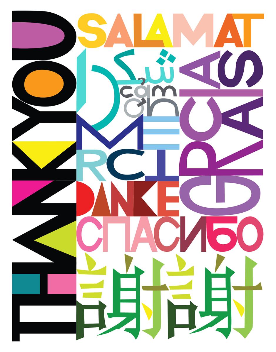 Many Languages Thanks