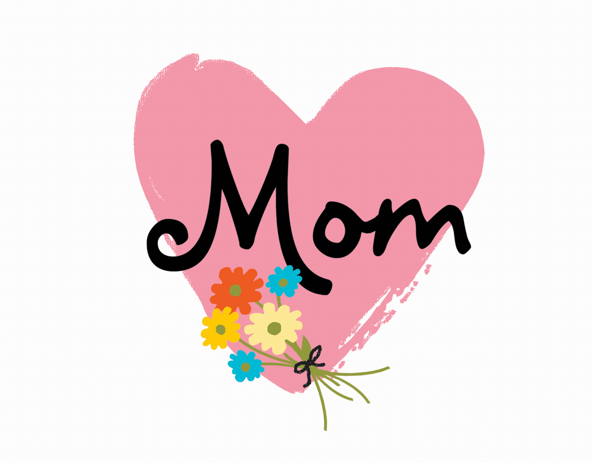 Heart Bouquet Mother's Day Card