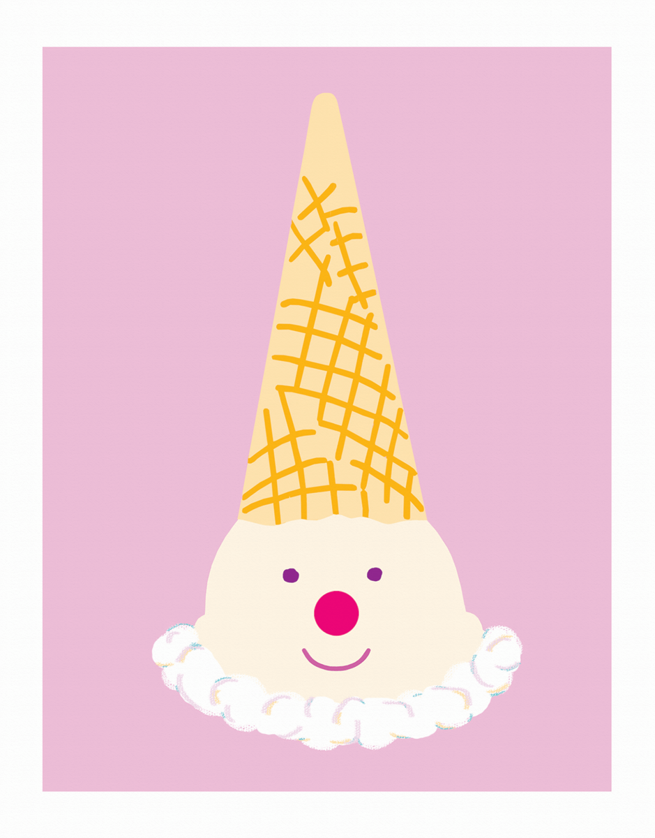 Clown Cone Everyday Stationery