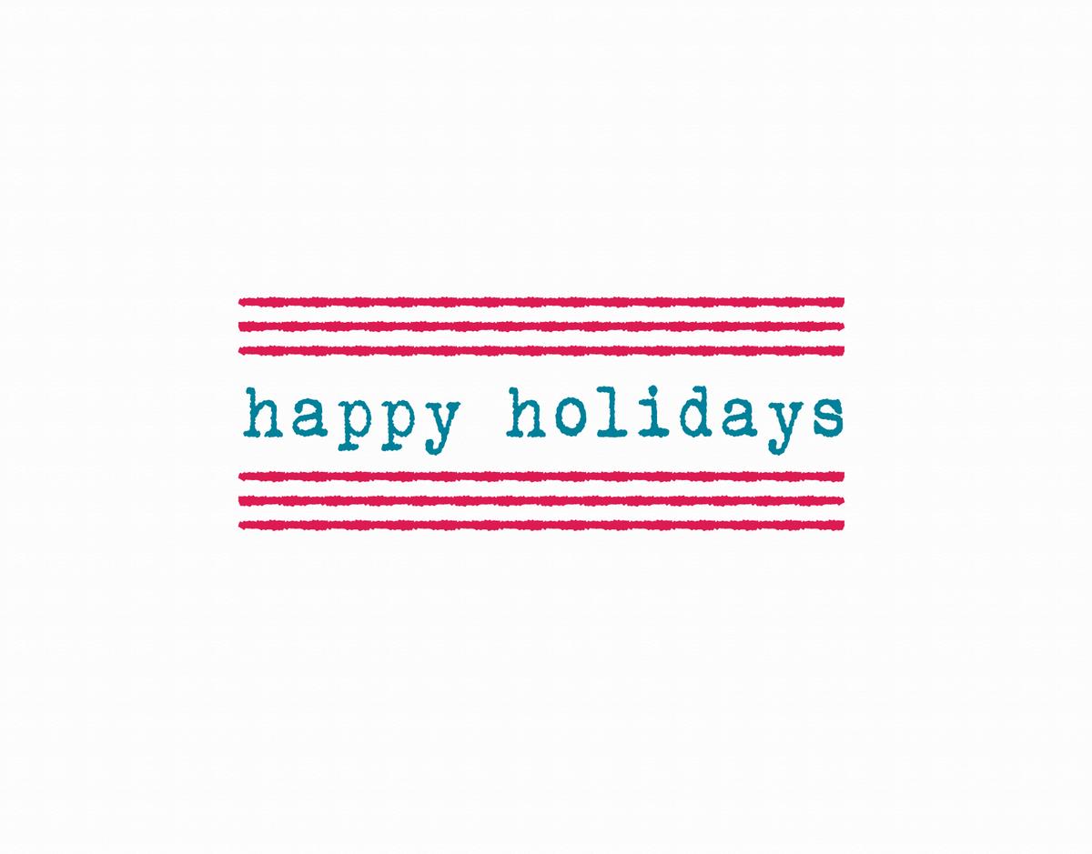 Minimal Happy Holidays Card
