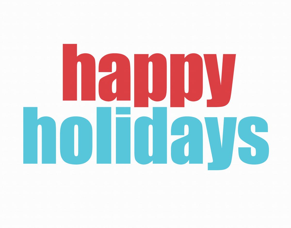 Bold Happy Holidays Card