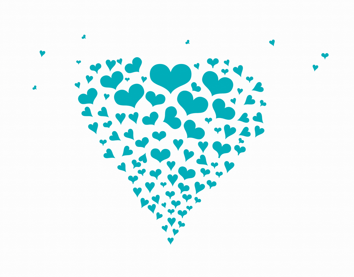 Blue Hearts Stationery