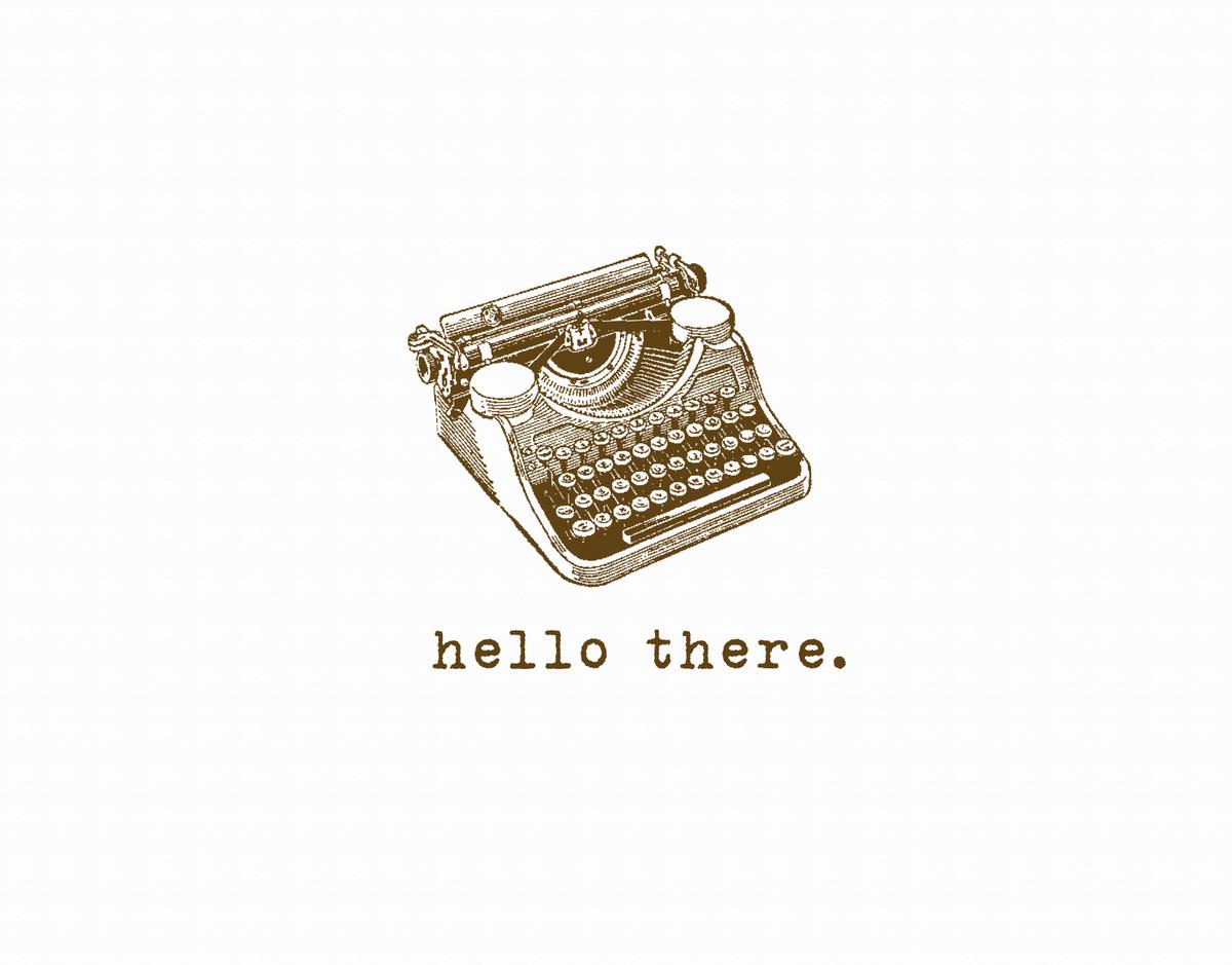Vintage Typewriter Everyday Card
