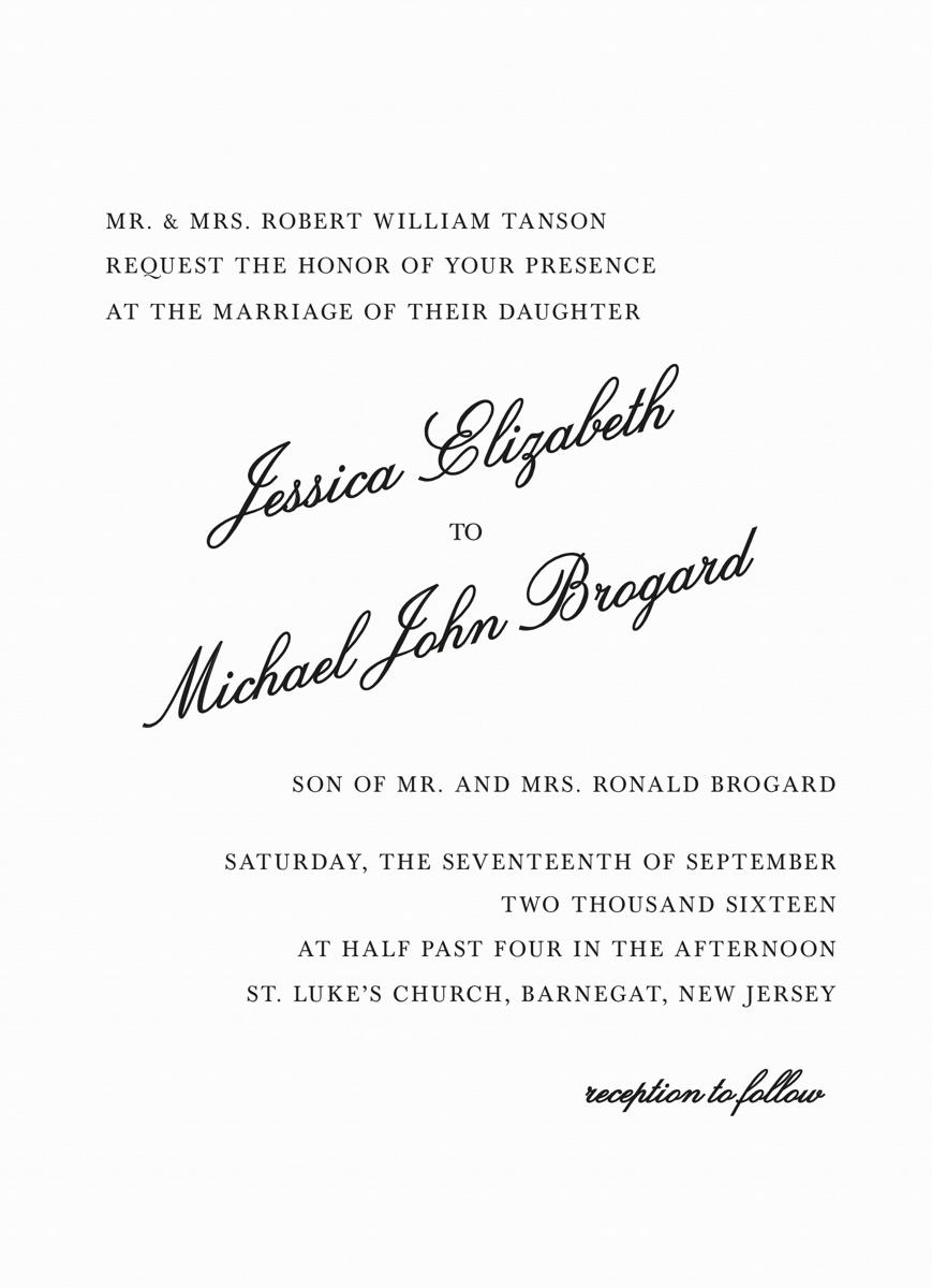 Formal Script Invite