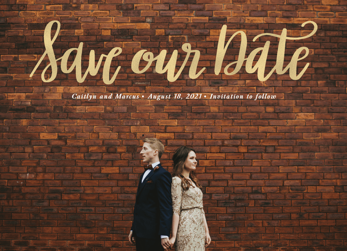 Save Our Date Script