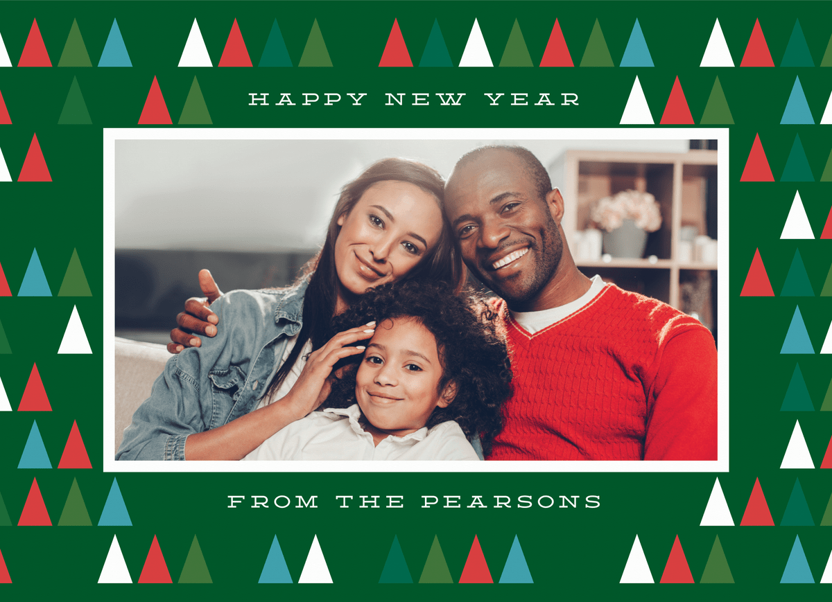 Modern Happy New Year Trees