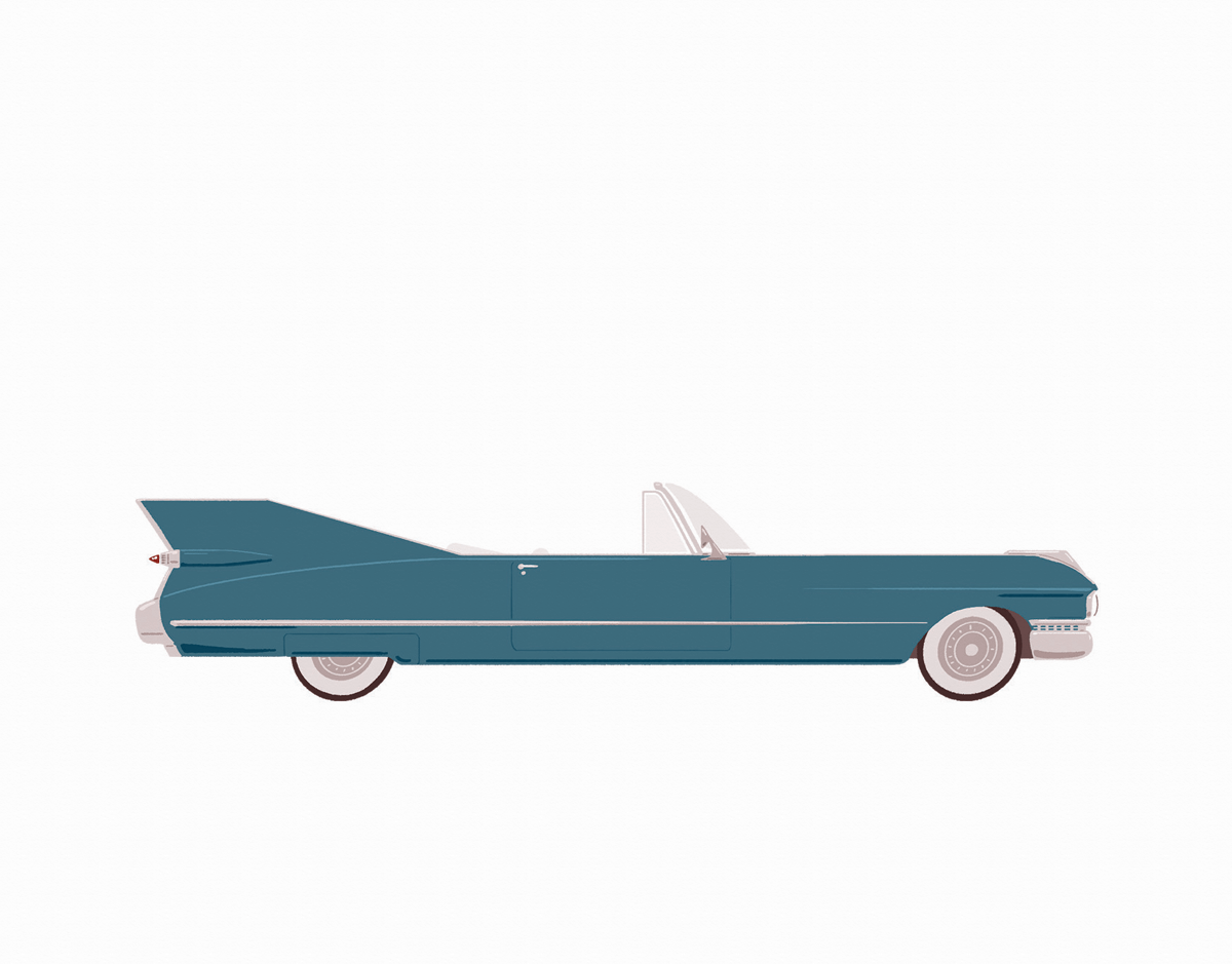 Vintage Car Steel Blue