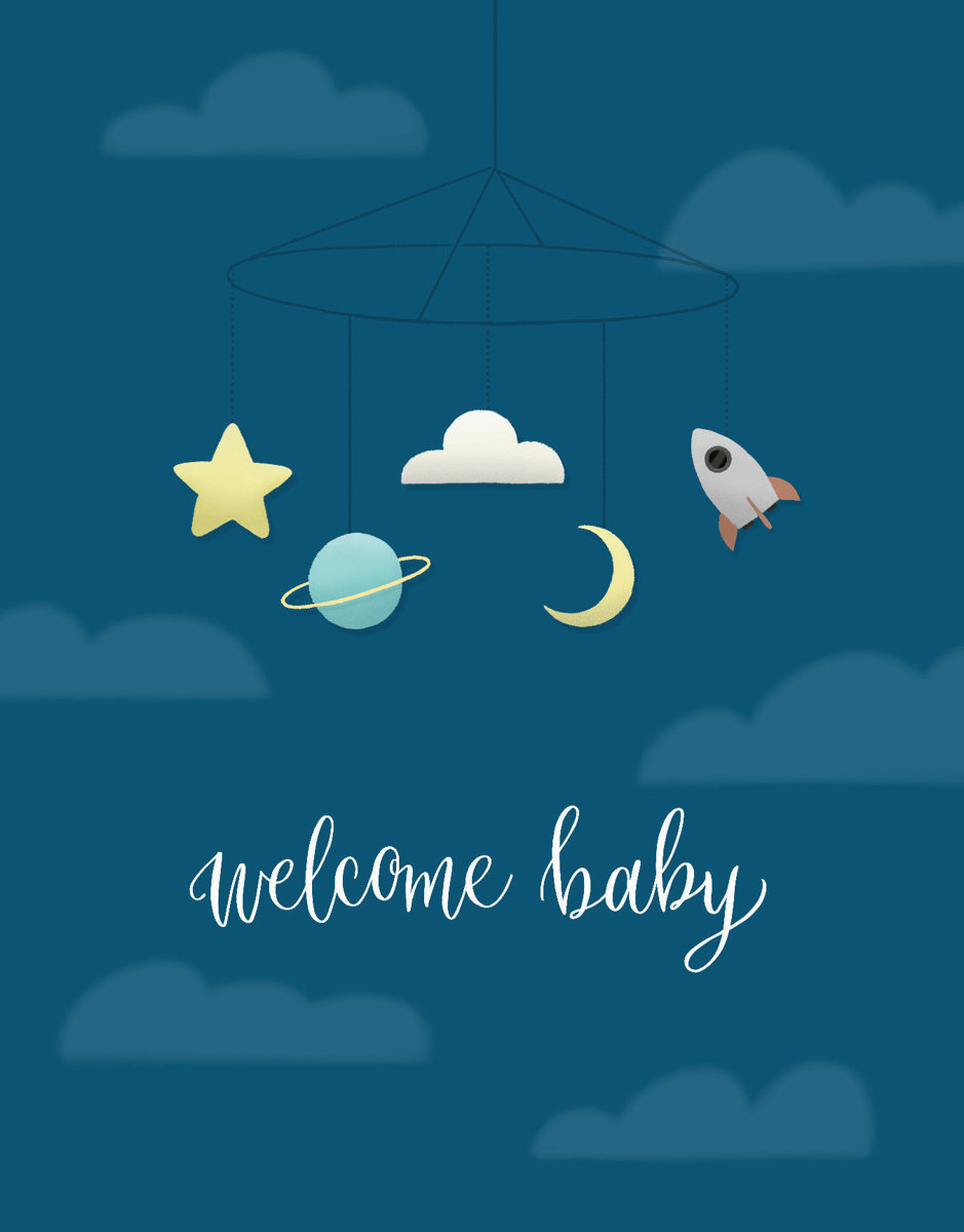Welcome Baby Blue