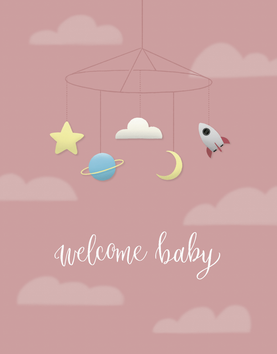 Welcome Baby Pink