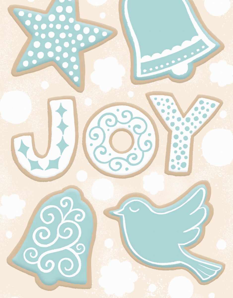 vintage joy holiday greeting