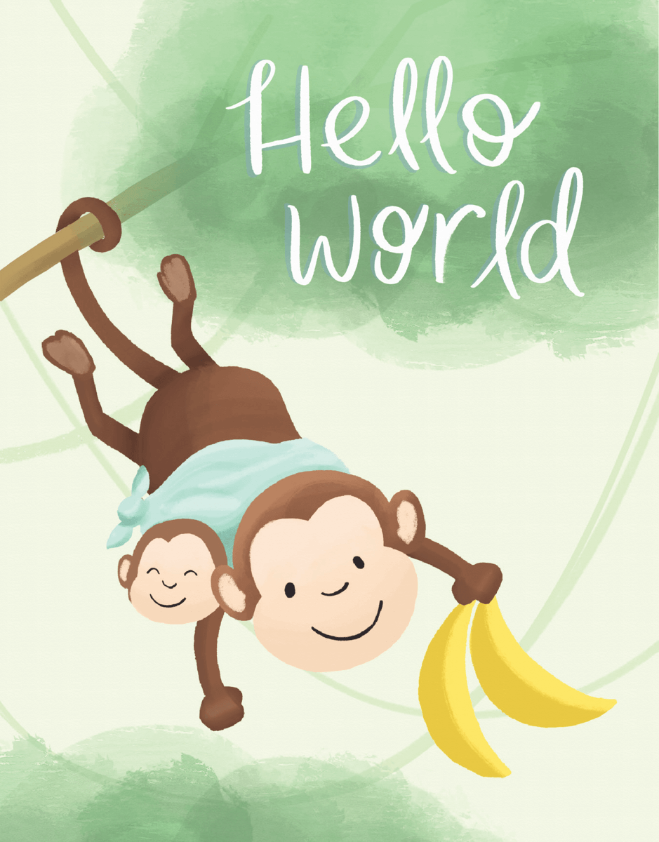 Monkey Baby Backpack