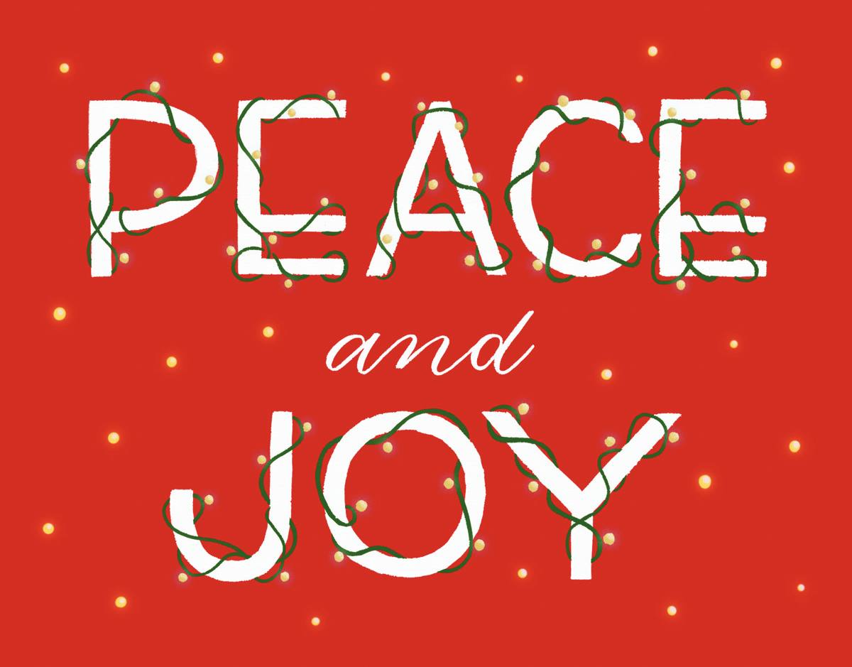 Peace And Joy String Lights