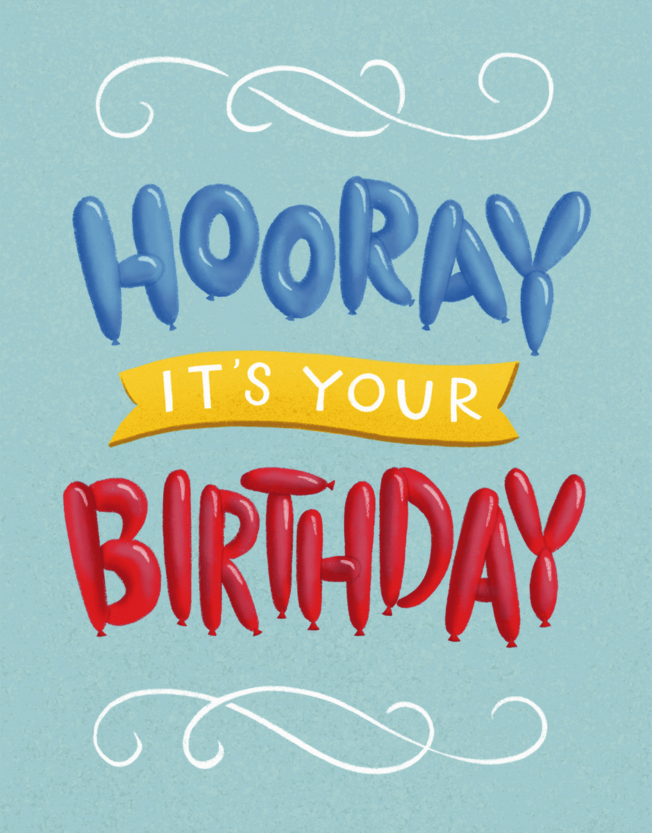 Birthday Balloon Letters