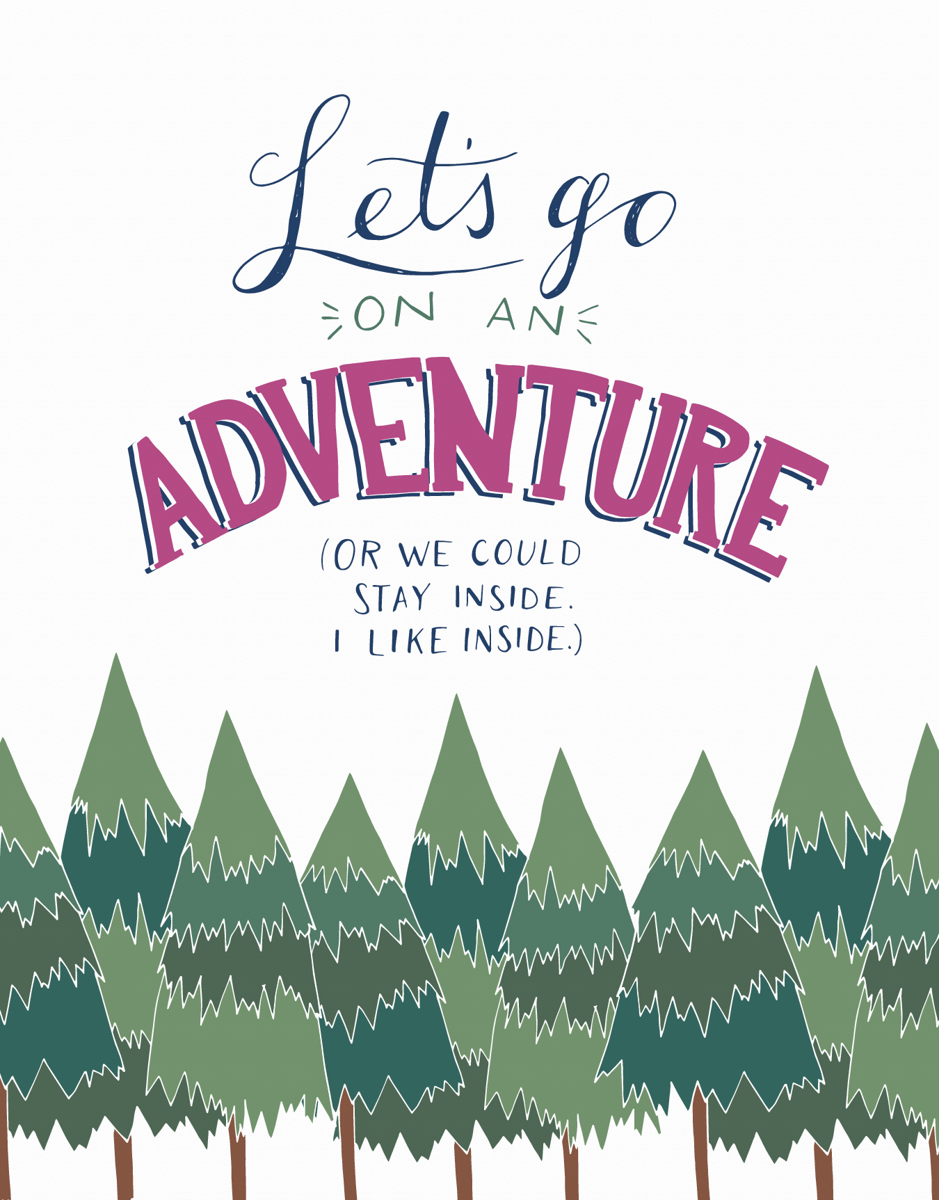 Funny Let's Go On An Adventure Card