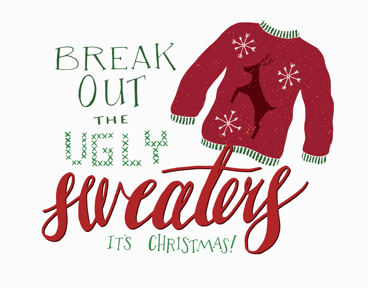 Funny Ugly Sweater Christmas Card