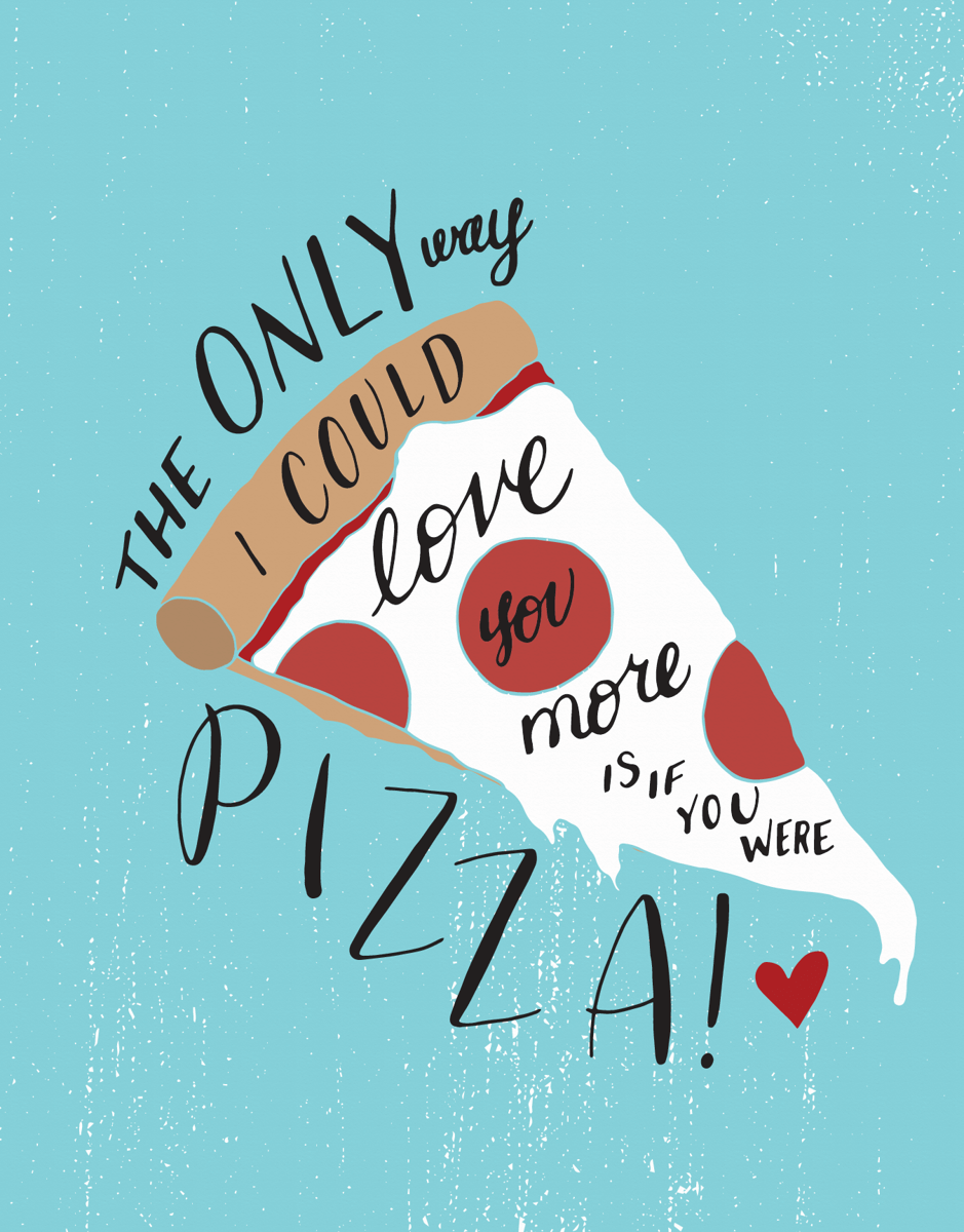 Funny Pizza Love Card