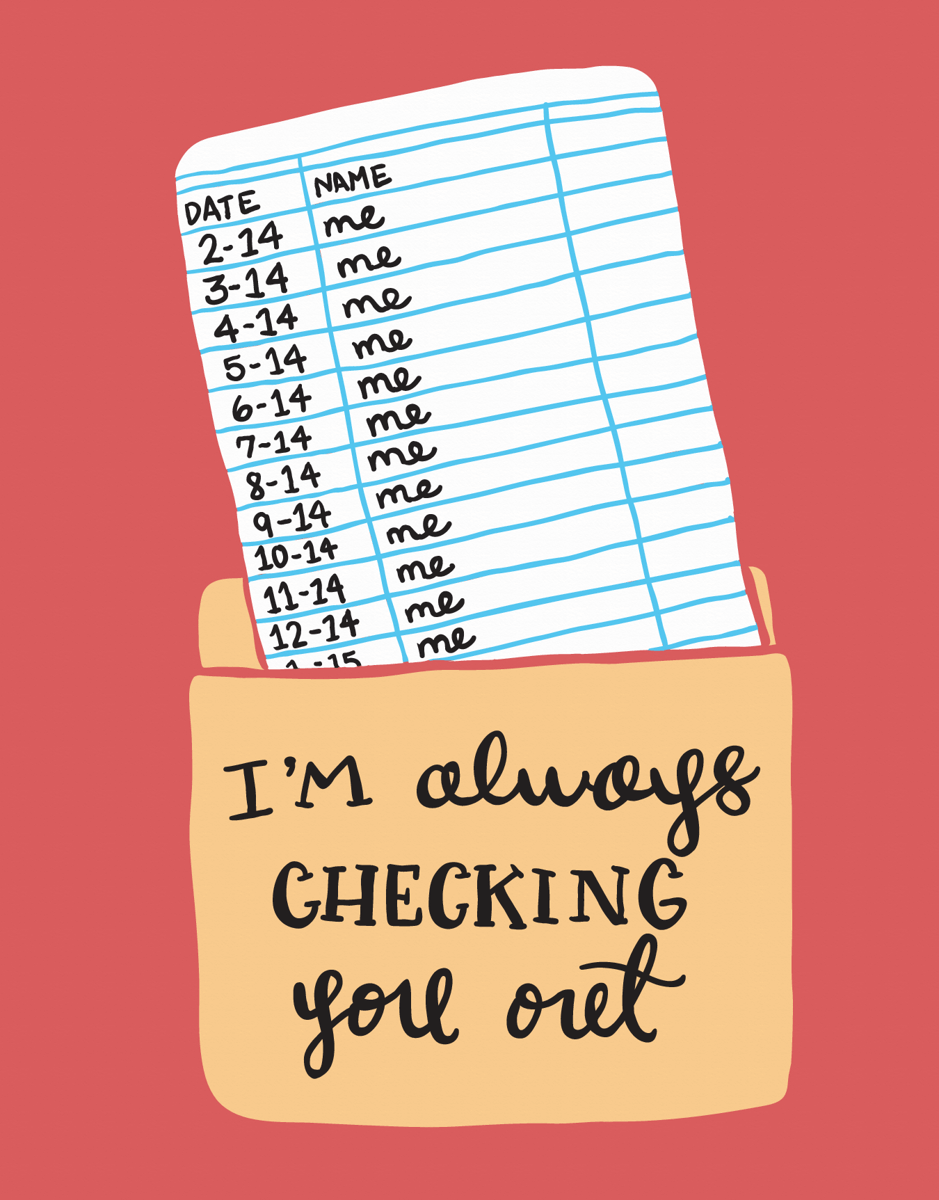 Funny Checking You Out Love Card